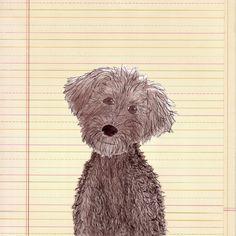 """""""Painted Poodle Potrait"""" by Melinda Farrar http://www.patreon.com/MelindaFarrar"""