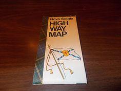 1968-69 Nova Scotia Province-issued Vintage Road Map • CAD 13.02 ...