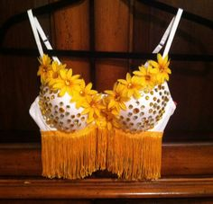 EDC Bright yellow flowers with rhinestone and  by FlowerChildGoods, $55.00