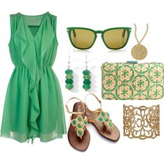 Feeling Green, created by rainbowprincess on Polyvore