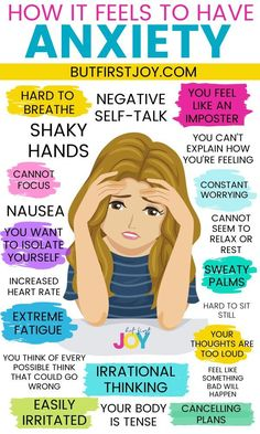 Nothing can describe how it feels to have anxiety better than this infographic. These are also the anxiety signs to look for. If you need more help with coping with anxiety – visit the link in this pin. Mental And Emotional Health, Mental Health Quotes, Mental Health Matters, Deal With Anxiety, Anxiety Help, Stress And Anxiety, Things To Help Anxiety, How To Manage Anxiety, What Anxiety Feels Like