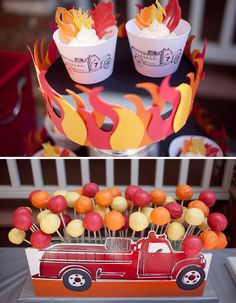 @Hannah Henry, love this idea for displaying cake pops, maybe @Jodi Broglio can do a firetruck graphic we can do this to