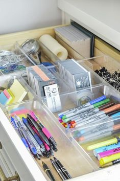 Organized and Functional Office Supply Drawers - Kelley Nan