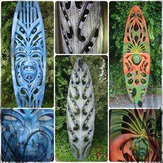 Maori surfboards - beautiful designs!  via Somethangz Originalz FB  Kee foa Surf bro mean maori Tribal Stylez Carved Surfboards FB