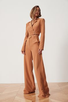 Matilda Pant in Cedar Brown Rompers Women, Jumpsuits For Women, Fashion Jumpsuits, Pantsuits For Women, Classy Outfits, Chic Outfits, High Fashion Outfits, Girly Outfits, Trendy Outfits