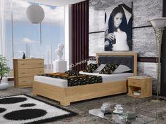 Krásna manželská posteľ IVO / vyrobená z masívneho dreva. Bench, Storage, Furniture, Home Decor, Purse Storage, Decoration Home, Room Decor, Larger, Home Furnishings