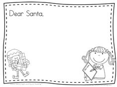 Dear Santa Letter Writing Templates  December Teaching Ideas