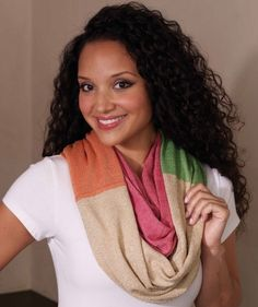 Color Block Infinity Ring Scarf by Mud Pie