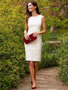 Talbots - Textured Cotton Sheath | Dresses | Petites