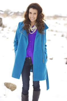 Love the coat and jewels...Hello Fashion: WINTER WARM: ILY COUTURE
