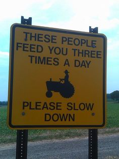 A tractor sign that is a little more to the point