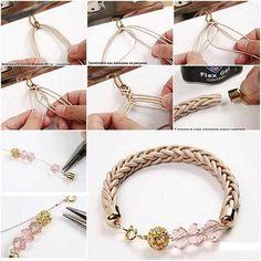 10 Adet ilginç kendin yap fikirleri - DIY http://www.canimanne.com/10-adet-ilginc-kendin-yap-fikirleri-diy.html Bracelets Tressés, Diy Bracelet, Bracelet Tutorial, Knot Necklace, Diy Jewellery, Jewelry Crafts, Jewelry Ideas, Design Crafts, Diy Crafts