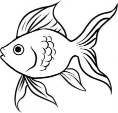 Six easy steps to drawing your very own goldfish!