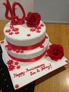 40th Wedding Anniversary Cake #rubyanniversary #40thanniversary