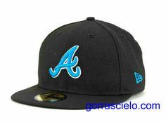 Comprar Baratas Gorras Atlanta Braves Fitted 0084 - Gorrascielo.com