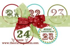 {Christmas Countdown Garland   Free Download}