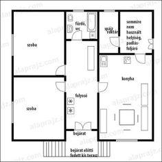 Kádárkockából vidékit, szépet: Alaprajz Floor Plans, House, Home, Homes, Floor Plan Drawing, Houses, House Floor Plans