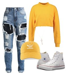 """Untitled #102"" by niced445 ❤ liked on Polyvore featuring Converse, Tiffany & Co. and adidas"