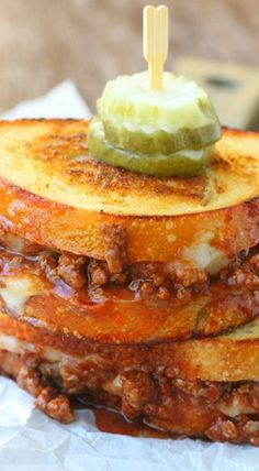 Manwich Grilled Cheese