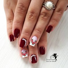 42 Modelos de Unhas Decoradas com Esmalte Vermelho Crush Signs, Tea Eggs, The Claw, Rose Nails, Healthy Shopping, Flirting Tips For Girls, Cute Nail Designs, Breakfast For Kids, Natural Nails
