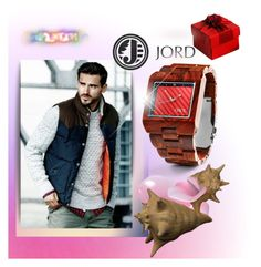 """""""Mens Wooden Watches by JORD"""" by ilona-828 ❤ liked on Polyvore featuring moda e jord"""