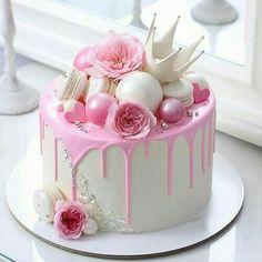 30th Birthday Cake For Women, Birthday Cake For Women Elegant, Baby Girl Birthday Cake, 25th Birthday Cakes, Elegant Birthday Cakes, Beautiful Birthday Cakes, Birthday Cake For Mother, Flower Birthday Cakes, Cake For Baby Girl