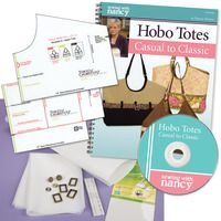 HOBO TOTES CASUAL TO CLASSIC STARTER SET - Designer Purse template by Nancy Zieman