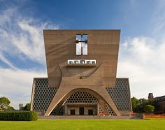 Marcel Breuer1961 St John's Abbey – Church and Bell Banner – Collegeville, MN – with Hamilton Smith