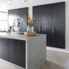 Awesome modern kitchen room are readily available on our website. Check it out and you wont be sorry you did. Rustic Kitchen Design, Interior Design Kitchen, Modern Kitchen Cabinets, New Kitchen, Kitchen Ideas, Kitchen Island, Küchen Design, House Design, Architecture Restaurant