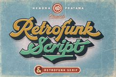 Retrofunk is a nostalgic script with a dynamic feel. It will add a vintage feel to any design project! Bold Script Font, Handwritten Fonts, New Fonts, Serif Font, Cursive Fonts, Retro Typography, Retro Font, Typography Design, Luxury Font