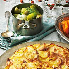 vegetarisches weihnachtsmen fein und festlich kartoffelgratin gem se und vegetarisches. Black Bedroom Furniture Sets. Home Design Ideas