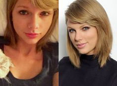 Taylor Swift from Stars Without Makeup  She woke up like this! (No, really.) Taylor shared a still-in-bed-with-kitty selfie to Instagram on March 5.
