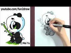 Fun2Draw Panda, click the link to get to video. This is the second one I ever drew. It's not as hard as it looks!