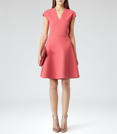 Womens deepflamingo fit and flare dress reiss renee