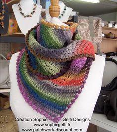 Crochet pdf pattern  Karina shawlette  door SophieGelfiDesigns, $6.00