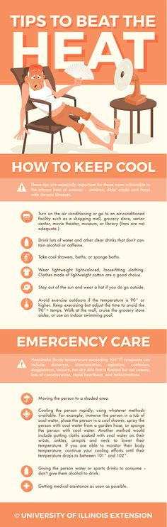 Tips to Beat the Heat – including emergency care for heat stroke or exhausting. #summer #safety #health
