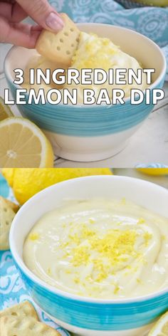 THREE ingredients for this delicious and easy Lemon Bar Dip Smores Dessert, Dessert Dips, Dessert Recipes, Easter Recipes, Recipes Dinner, Lemon Desserts, Delicious Desserts, Yummy Food, Dip Recipes