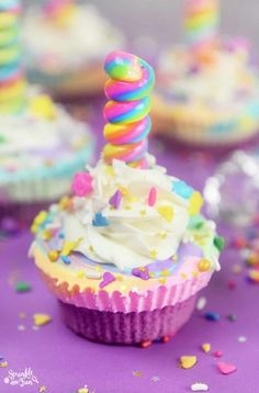 Unicorn Ice Cream Cupcakes!  | magical | magical desserts | yummy | delicious | #magical #magicalrecipes #yummy #delicious | http://www.fabledwhimsy.com/