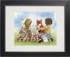 Playtime Tea Party  archival watercolor by TracyLizotteStudios, $14.00