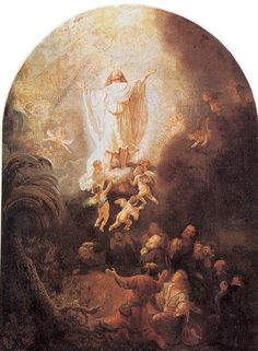Rembrandt Harmensz. van Rijn 1606 – 1669     Ascension     oil on canvas (93 × 69 cm) — 1636