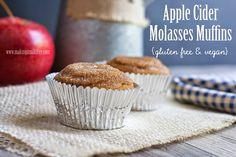 Making it Milk-free: Apple Cider Molasses Muffins {gluten free & vegan}