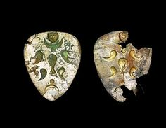 Medieval Hungary: Hungarian ornaments found at the site of the Battle of Lechfeld Medieval Jewelry, Medieval Art, Carolingian, Folk Music, Hungary, Vikings, Battle, Brooch, Traditional