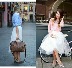 """Manual de uso de la Falda de Tul, de """"Devil Wears Zara"""" (http://devilwearszara.vogue.es/2015/01/manual-de-uso-falda-de-tul/). Falda de tul + camisa. Owner #Tulleskirt Manual Use, #DevilWearsZara. Tulle skirt + #shirt."""