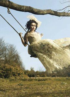"Helena Bonham Carter in ""The wonderful world of Helena"" by Jr Mankoff for UK Harper's Bazaar, June 2012."