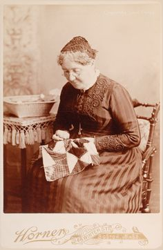 Cabinet Card,1892, International Quilt Study Center & Museum, Lincoln, NE