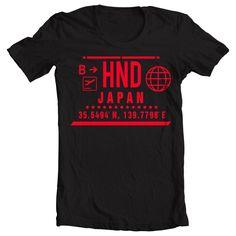 HND - JAPAN CLEAR PORT T-SHIRT - BLACK