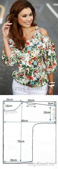Своими руками (Творчество, Шитье, Выкройки)Блуза