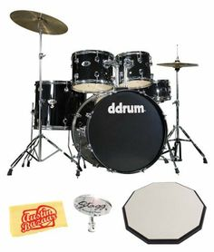 ddrum D2 Five-Piece Drum Kit Bundle with 12-Inch Drum Pad, Drum Key, and Polishing Cloth - Midnight Black by dDrum. $399.00. Bundle includes ddrum D2 Five-Piece Drum Kit, Stagg 12-Inch Drum Pad, Stagg Drum Key, and Polishing Cloth.For the beginner looking for a basic, quality, full sized drum kit, the D2 from dDrum is the total package. The D2 includes shallow toms, in a contemporary size configuration. For a professional and reputable percussion company, dDRum ...