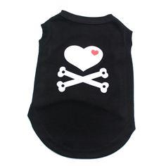 Dog Cat Shirt Vest Love&Bone Pajamas Pet Puppy Dress 100% cotton summer clothes 5 sizes 4 colours #Affiliate