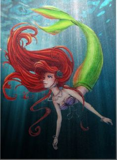 I tried drawing Ariel a couple of days ago and it wasn't anywhere near as amazing as this.. I love it.